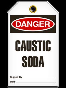 Danger Caustic Soda Tags