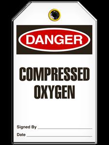 Danger Comp Oxygen Tags