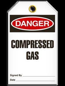 Danger Comp Gas Tags