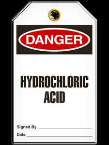 Danger Hydrochloric Tags