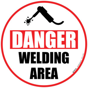Danger Welding Area Floor Sign