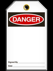 Danger (Blank) Tags