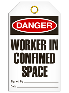 Danger Confined Space Tags