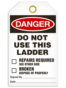 Danger Dnu Ladder Tags