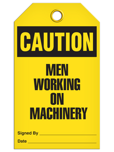 Caution Men Working Tags