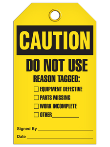 Caution Reason Tagged Tags