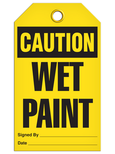 Caution Wet Paint Tags