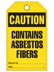 Caution Contains Asbestos Fibers Tags