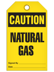 Caution Natural Gas Tags