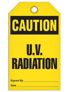 Caution Uv Radiation Tags