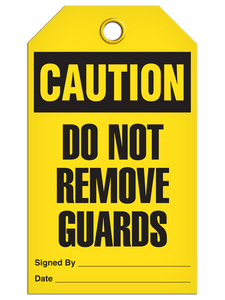 Caution Remove Guard Tags