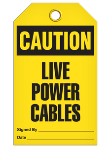 Caution Live Power Tags