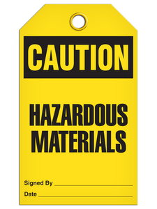 Caution Haz Material Tags