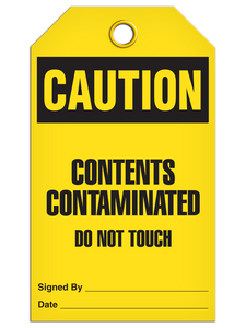 Caution Cont Contam Tags