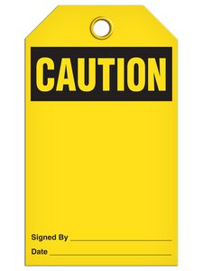 Caution (Blank) Tags