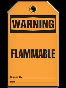 Warning Flammable Tags
