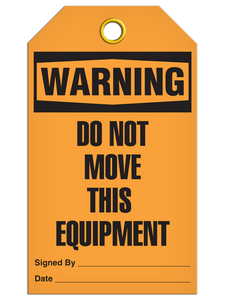 Warning Do Not Move Tags