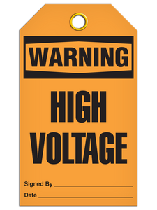 Warning High Voltage Tags