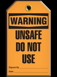 Warning Unsafe Use Tags