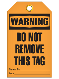 Warning Do Not Remove Tags