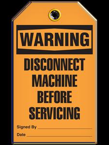 Warning Disconnect Tags