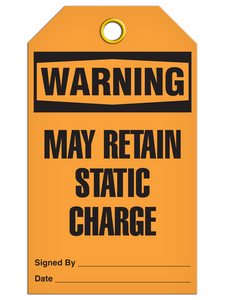 Warning Static Charge Tags