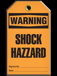 Warning Shock Haz Tags