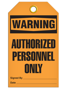 Warning Auth Person Tags