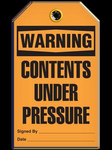 Warning Under Press Tags