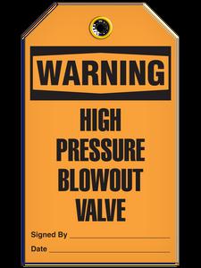 Warning Press Valve Tags