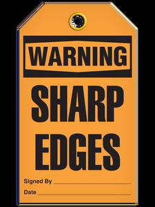 Warning Sharp Edge Tags
