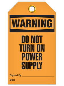 Warning Not Power On Tags