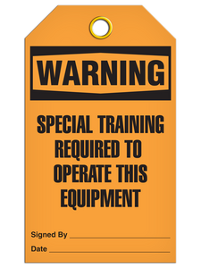 Warning Special Train Tags