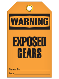 Warning Exposed Gear Tags
