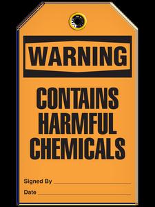 Warning Harm Chemical Tags