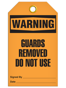 Warning Guards Removed Do Not Use Tags