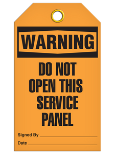 Warning Service Panel Tags