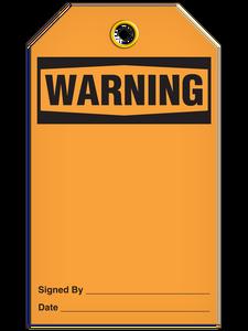 Warning (Blank) Tags