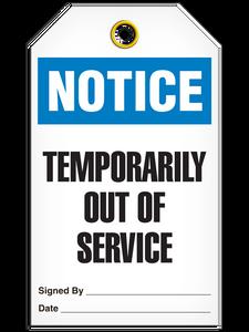Notice Temp Service Tags
