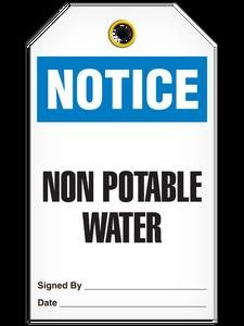 Notice Non-Potable Tags