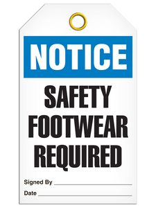 Notice Safety Foot Tags