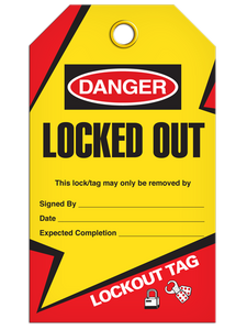 Lockout Locked Out Tags