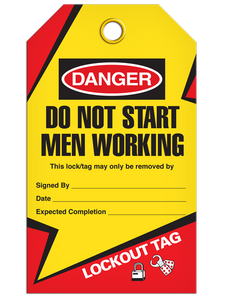Lockout Men Working Tags
