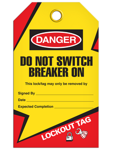 Lockout Breaker On Tags