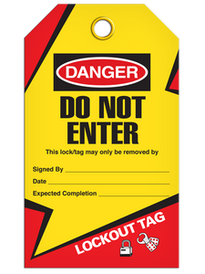 Lockout Do Not Enter Tags
