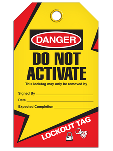 Lockout Do Not Activate Tags