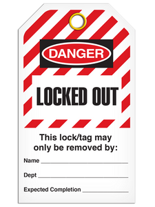 Lockout Locked Out StripedTags