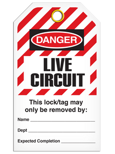 Lockout Live Circuit StripedTags