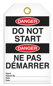 Danger English/French Start Tags