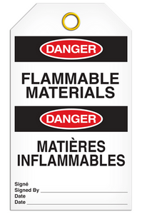Danger English/French Flammable Tags